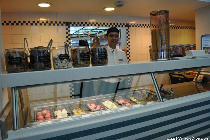 Celebrity Millenium Ice Cream bar in the Ocean View Cafe