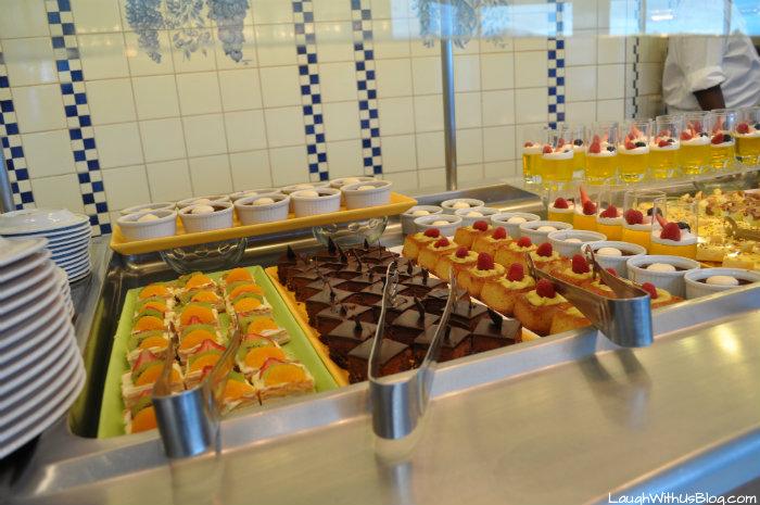 Celebrity Millenium Oceanview Cafe desserts