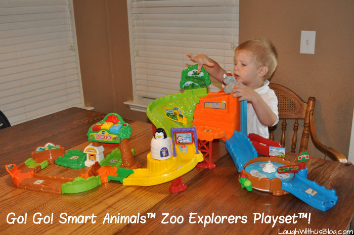 Playing with Go! Go! Smart Animals™ Zoo Explorers Playset™! #ad