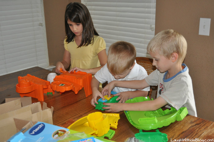 Putting together Go! Go! Smart Animals™ Zoo Explorers Playset™ #ad