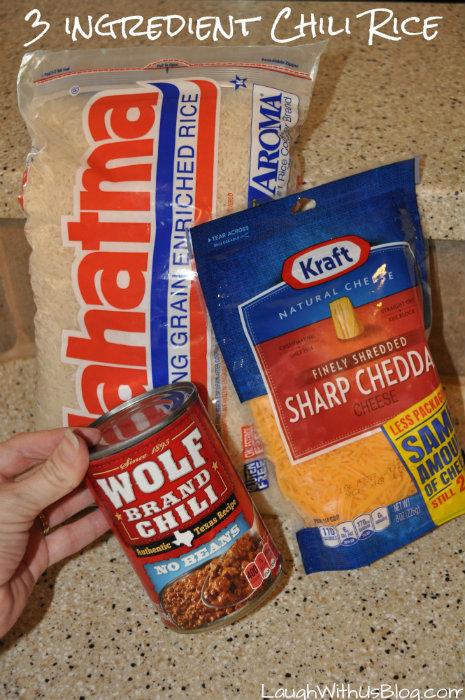 3 ingredient Chili Rice