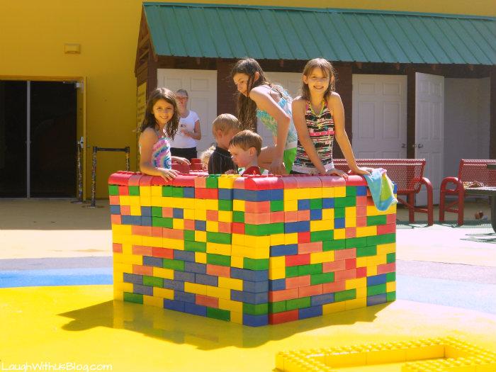Built a fort at Pirate Beach LEGOLAND