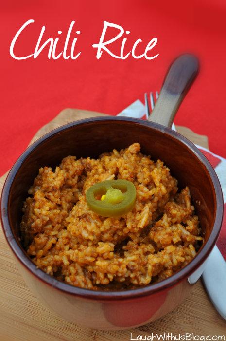 Chili Rice made with #BoldWolfChili #ad