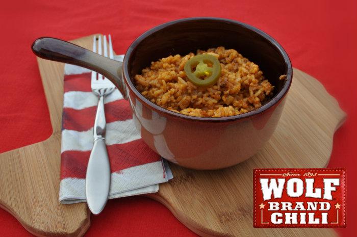 Chili Rice with #BoldWolfChili #ad