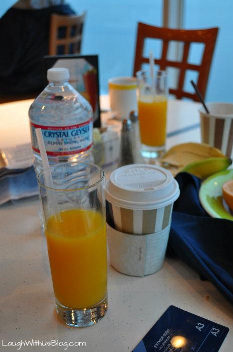 Fresh squeezed orange juice Celebrity cruise