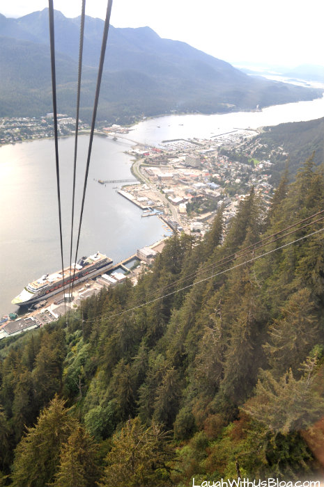 Going down Mount Roberts Tramway
