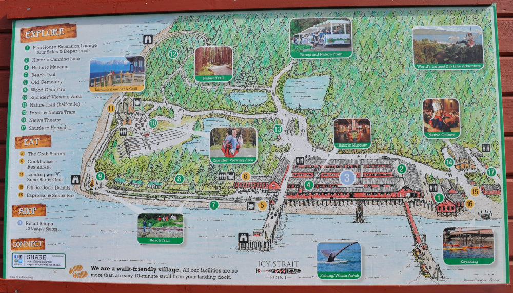 Icy Strait Point map