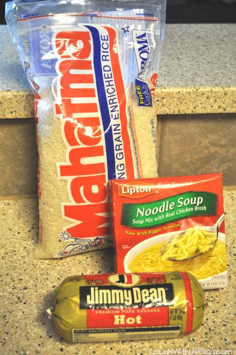 Sausage Rice Skillet ingredients