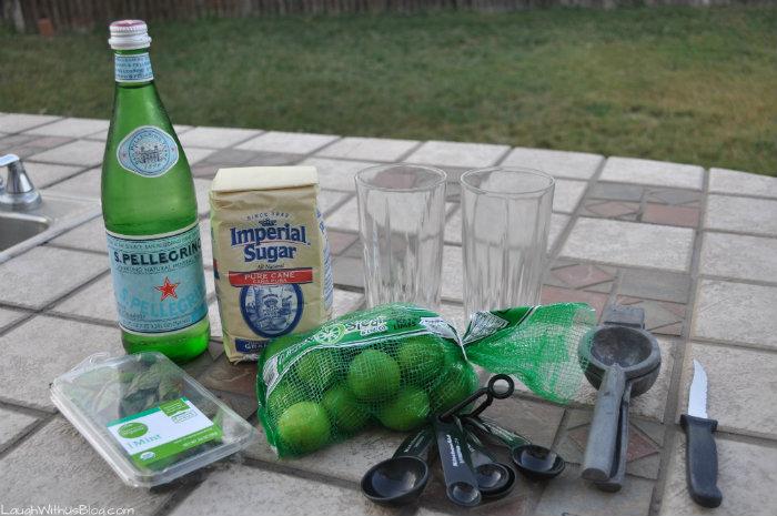Virgin mojito ingredients
