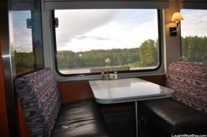 Dinner on a train