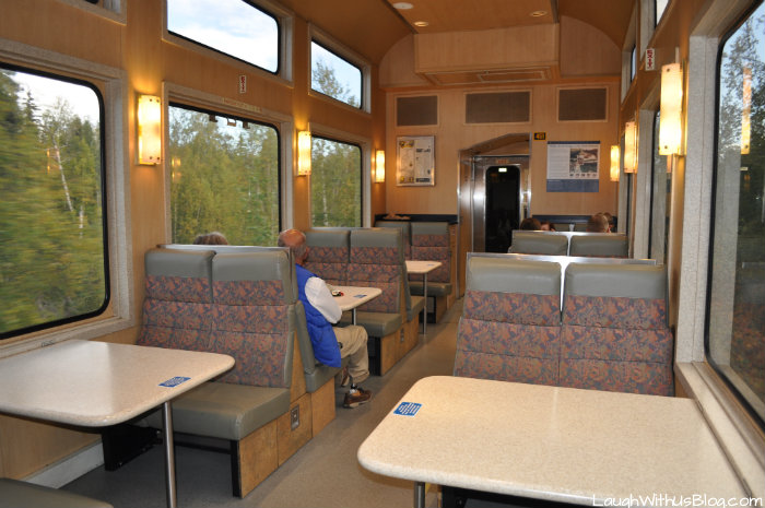 Alaska Railroad Quick Service Restaurant Seating