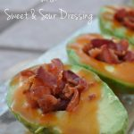 Bacon Stuffed Avocados with Sweet & Sour Dressing