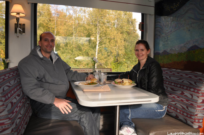 Eating on the Alaska Raildroad Train