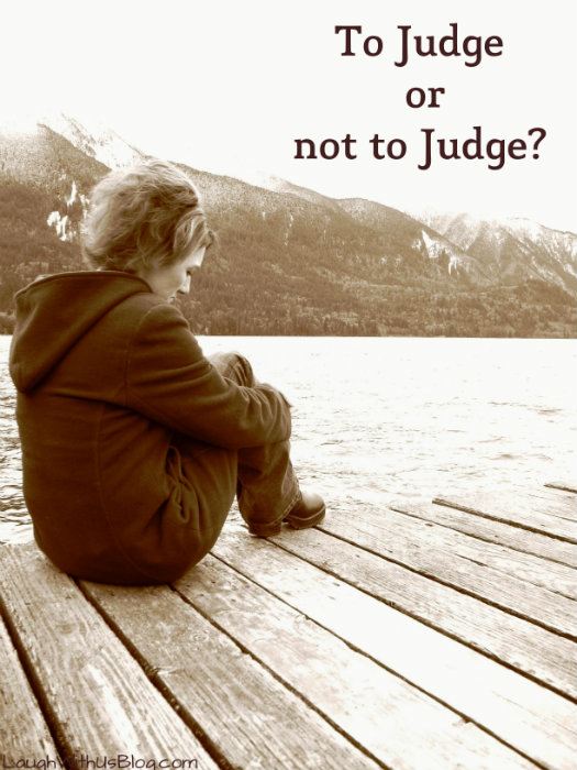 How judging differs from being judgemental