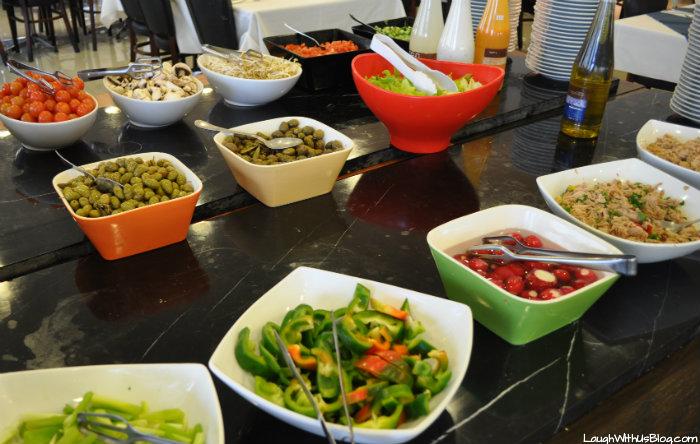 Breakfast salad in Israel Kibbutz Haon #IsramIsrael