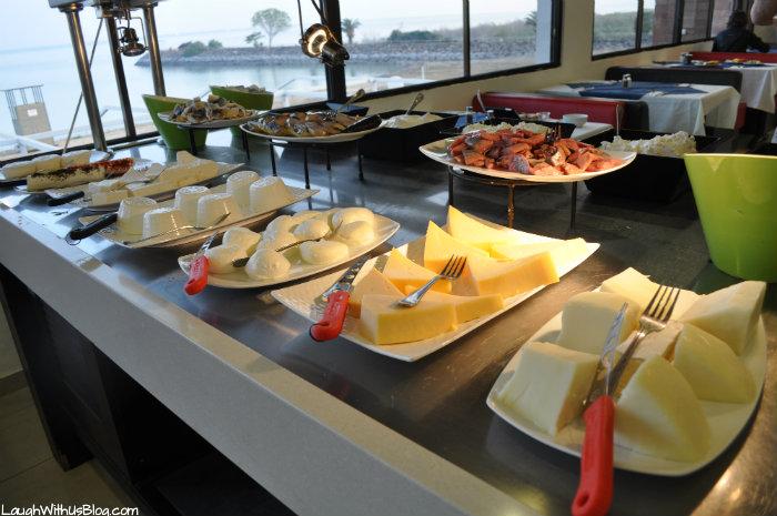 Cheese and fish bar breakfast Kibbutz Haon #IsramIsreal