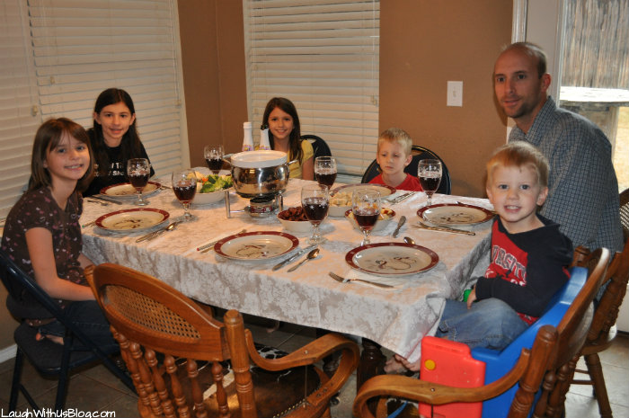 Fondue with family party
