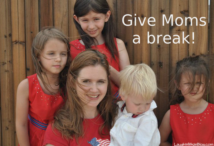 Give Moms a break. The difficult toddler years.