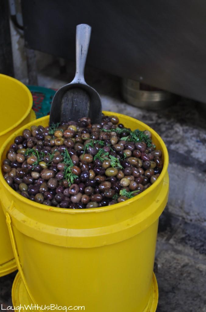 Olives at the market #IsramIsrael
