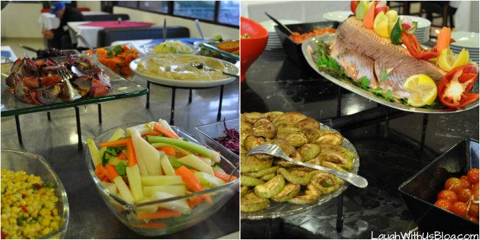 Supper salad bar at Kibbutz Haon #IsramIsreal