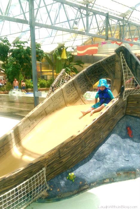 Fun Boat Slide at Schlitterbahn Galveston #ad #bahnlove