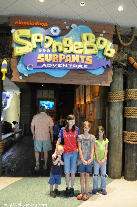 Sponge Bob Subpants Adventure at Moody Gardens #ad