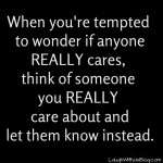Who really cares?