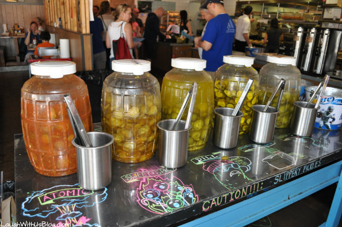 Twisted Root Burgar Company Pickle Bar