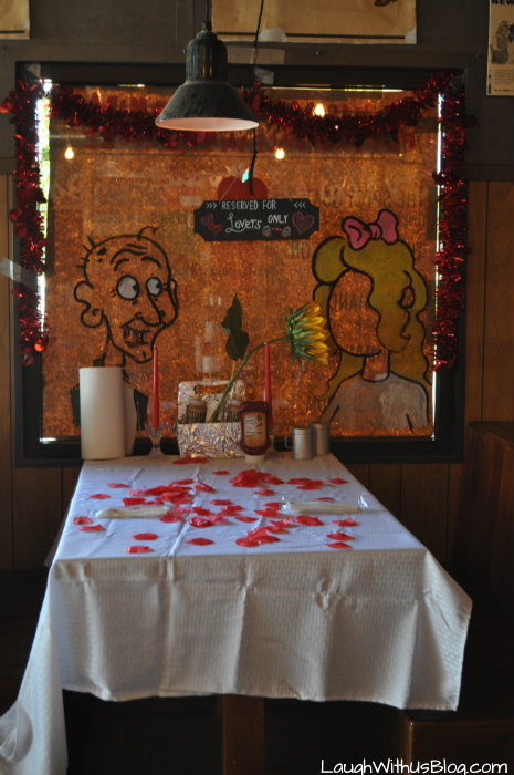 Twisted Root Burgar Company Valentine's Day Table