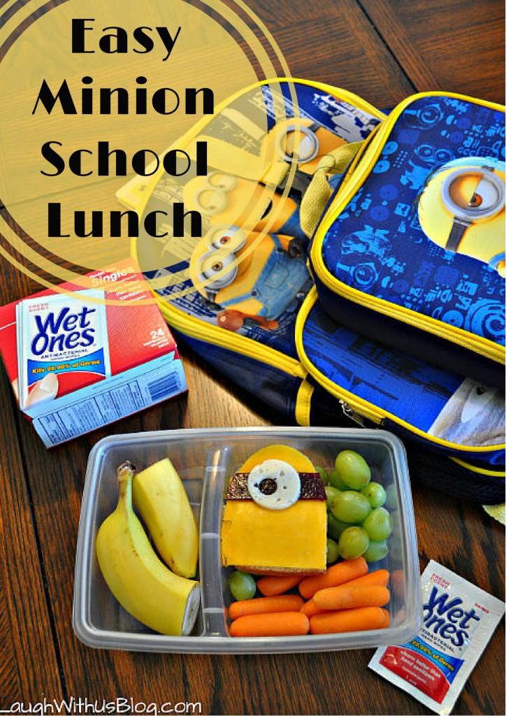 Easy Minion School Lunch #WishIHadAWetOnes #ad