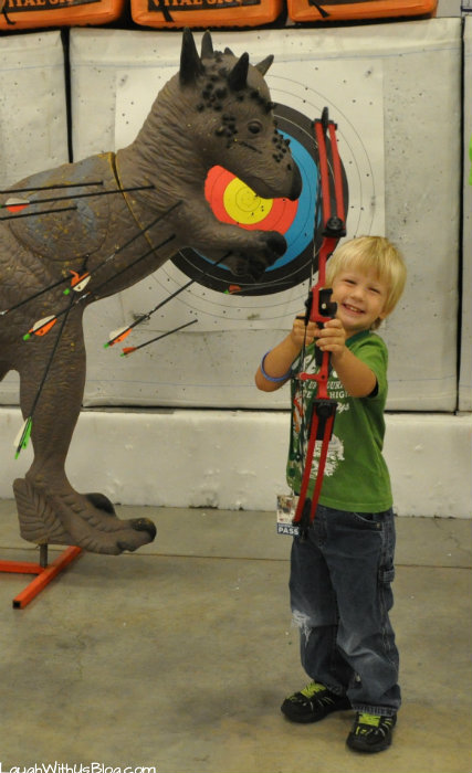 Family Adventure Fest Bow lessons #hosted