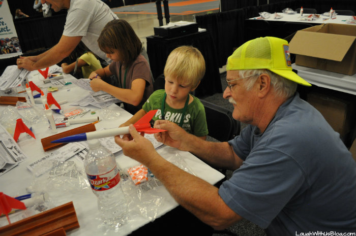 Family Adventure Fest building rockets #hosted