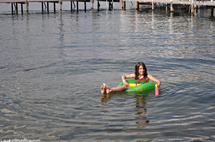 Floating on Lake Okoboji