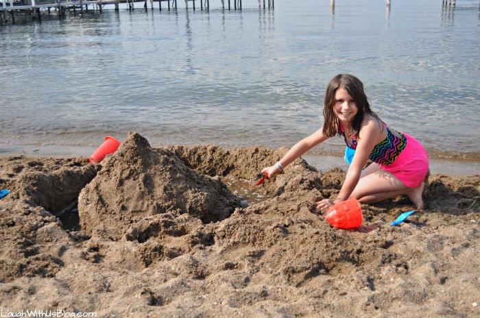 Fun in the sand at Lake Okoboji