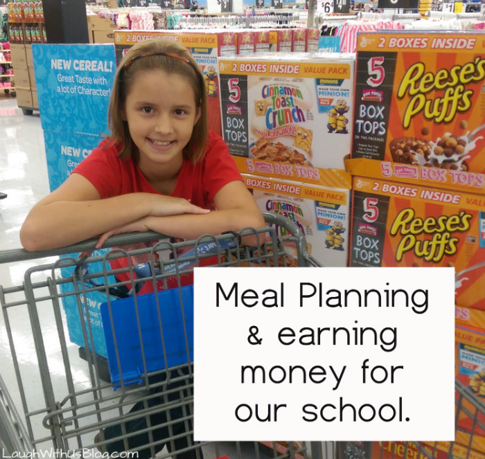 Meal Planning and earning money for our school BoxTops for Education #ad