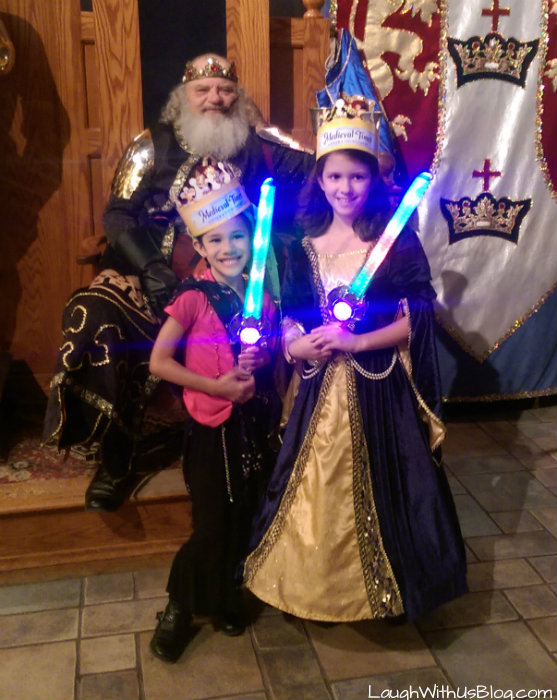 Medieval Times with her BFF