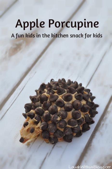 Apple Porcupine Snack for kids