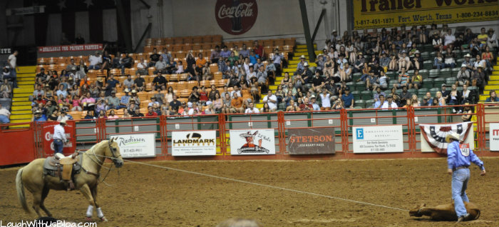 Calf Roping Fort Worth Sockyards Rodeo #hosted