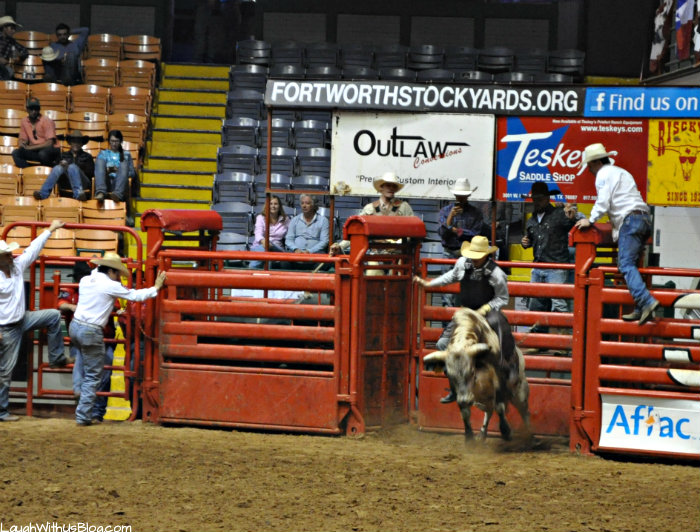 Fort Worth Stockyards Rodeo Bull riding #hosted