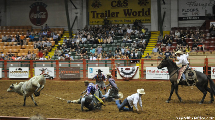 Fort Worth Stockyards Rodeo accident bull riding #hosted