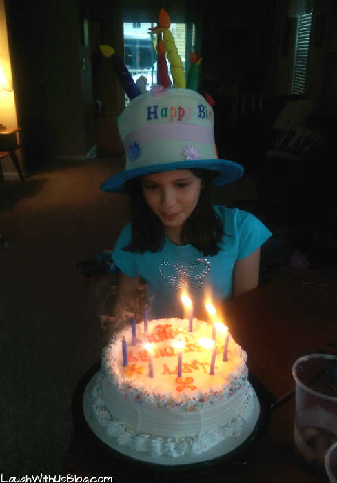Make a wish! Grace 9th birthday