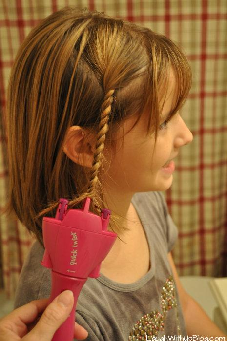 Make twisty braids with #QuickTwist #ad