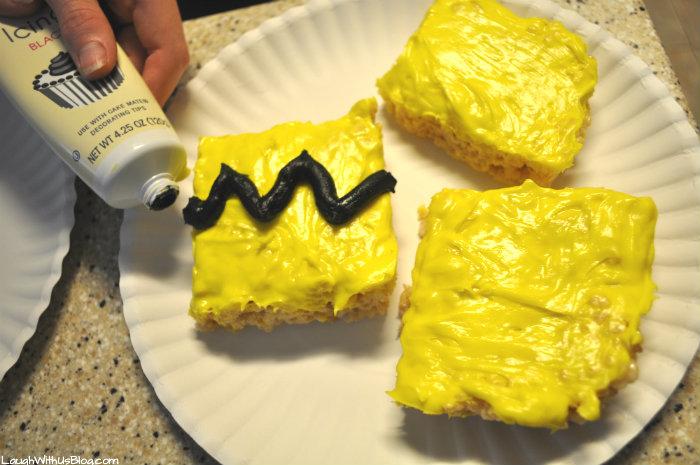 Charlie Brown Zig Zag Rice Krispy Treats #ad
