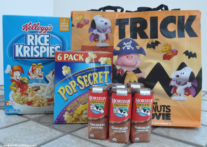 Peanuts the Movie Trick or Treat bags at Albertsons with purchase #ad
