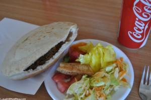 My first Falafel at Birkat Ram Restaurant