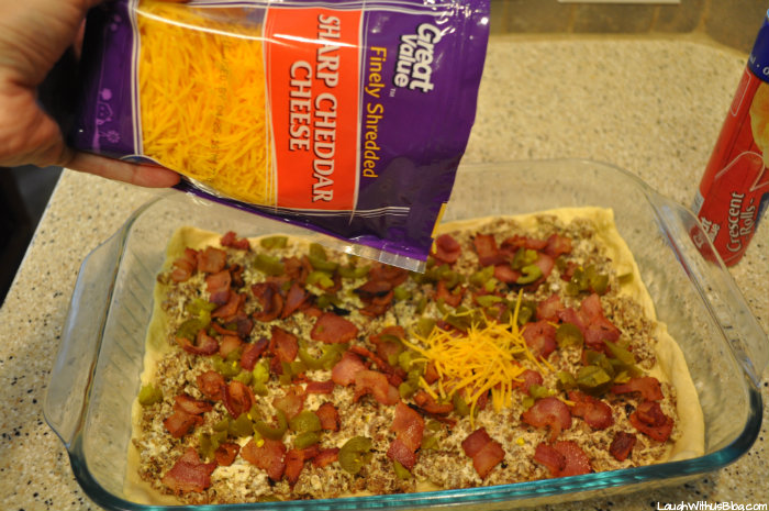 Jimmy Dean Sausage Squares layer ingredients #joy2themeal #ad