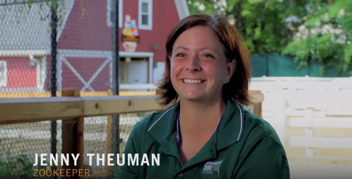 Kronos American Worker Jenny Theuman, Zookeeper