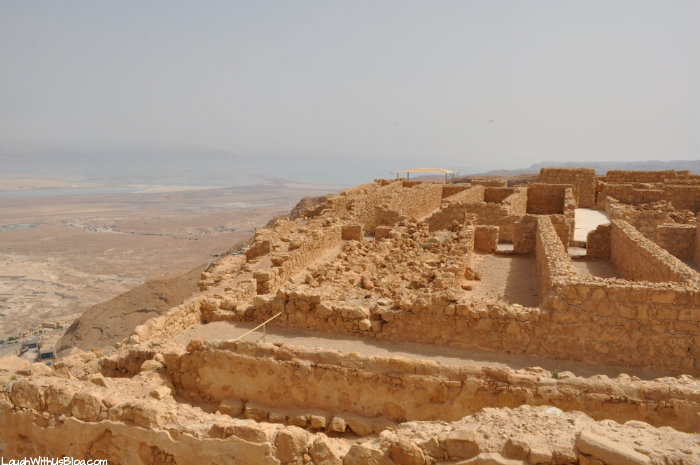 Masada, view on top of