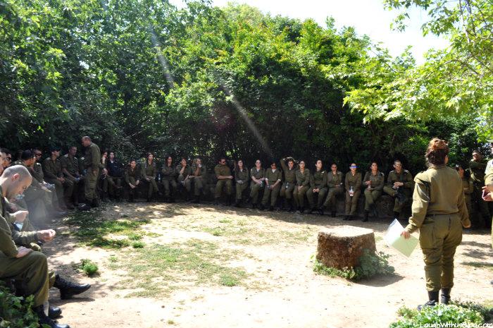 Military at Banias Nature Preserve Israel