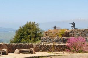Mt Bental site of 1973 Yom Kippur War
